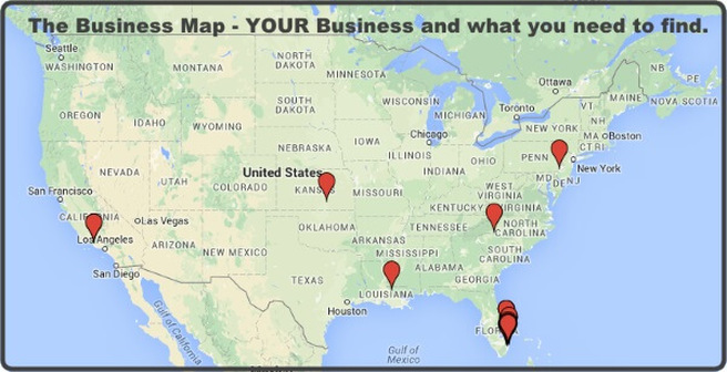 The Business Map - Your Business and WHAT you need to find to enhance your business.
