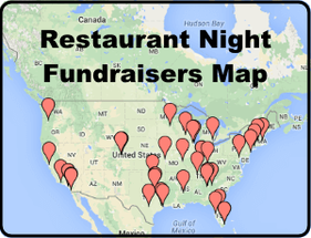 Restaurant Night Fundraisers Map